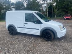 2009/59 REG FORD TRANSIT CONNECT 90 T220 1.8 DIESEL WHITE PANEL VAN, SHOWING 0 FORMER KEEPERS