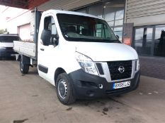 2015/65 REG NISSAN NV400 DCI E SHR 2.3 DIESEL WHITE DROPSIDE LORRY, SHOWING 0 FORMER KEEPERS