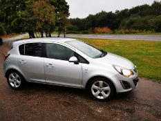 2012/62 REG VAUXHALL CORSA SXI AIR CONDITIONING 1.2 PETROL SILVER 5 DOOR HATCHBACK *NO VAT*