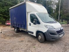 2017/67 REG CITROEN RELAY 35 L3 BLUE HDI 2.0 DIESEL CURTAIN SIDED VAN, SHOWING 0 FORMER KEEPERS