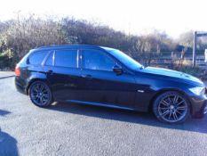 2010/60 REG BMW 3 SERIES 320D SPORT PLUS EDITION TOURING 2.0 DIESEL BLACK ESTATE *NO VAT*