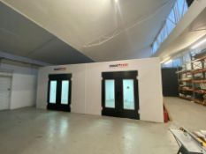 THIS IS A BRAND NEW SPRAY BOOTH WITH A DRYING ROOM USING INFARED HEATING *PLUS VAT*