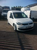 2015/15 REG VOLKSWAGEN CADDY C20 HIGHLINE TDI 1.6 DIESEL WHITE PANEL VAN, SHOWING 2 FORMER KEEPERS