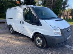 2013/13 REG FORD TRANSIT 100 T300 FWD 2.2 DIESEL WHITE PANEL VAN, SHOWING 0 FORMER KEEPERS