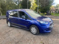2016/66 REG FORD TRANSIT CONNECT 230 1.5 DIESEL BLUE PANEL VAN, SHOWING 0 FORMER KEEPERS *PLUS VAT*