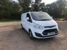 2016/66 REG FORD TRANSIT CUSTOM 290 LIMITED 2.0 DIESEL PANEL VAN, SHOWING 2 FORMER KEEPERS *NO VAT*