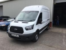 2017/17 REG FORD TRANSIT 350 L3H3 2.0 DIESEL WHITE PANEL VAN, SHOWING 1 FORMER KEEPER *NO VAT*