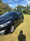 2013/13 REG HYUNDAI I30 ACTIVE CRDI AUTO 1.6 DIESEL BLACK 5DR HATCHBACK, SHOWING 1 FORMER KEEPER