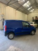 2014/14 REG PEUGEOT BIPPER S HDI 1.25 DIESEL BLUE PANEL VAN, SHOWING 0 FORMER KEEPERS PLUS VAT