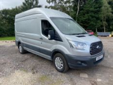 2016/16 REG FORD TRANSIT 350 TREND 2.2 DIESEL SILVER PANEL VAN, SHOWING 0 FORMER KEEPERS *NO VAT*