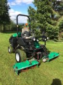 2013 RANSOMES PARKWAY 3 GANG RIDE ON LAWN MOWER WITH ROLL BAR, RUNS, DRIVES AND CUTS *PLUS VAT*