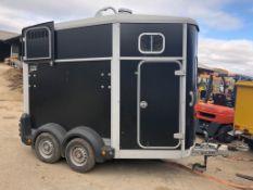 2014 IFOR WILLIAMS TWIN AXLE HORSE BOX TRAILER HB506 BLACK *PLUS VAT*
