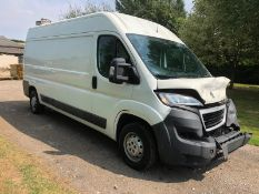 2014/64 REG PEUGEOT BOXER HDI 335 L3H2 PROFESSIONAL 2.2 DIESEL PANEL VAN, SHOWING 3 FORMER KEEPERS