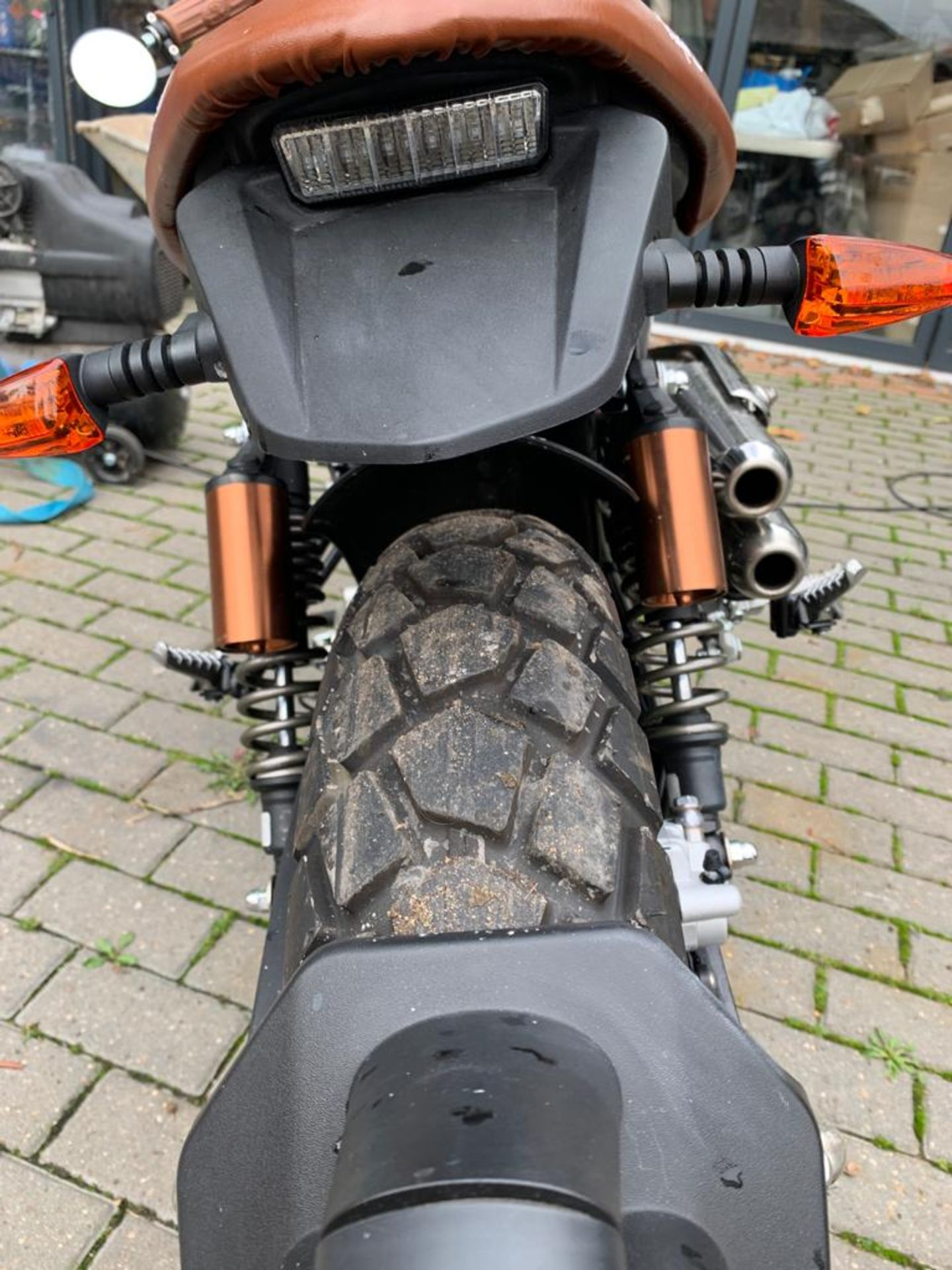2018/18 REG MONDIAL HPS 125 S E4 SCRAMBLER MOTORBIKE / MOTORCYCLE, ROAD REGISTERED WITH V5 PRESENT - Image 4 of 11