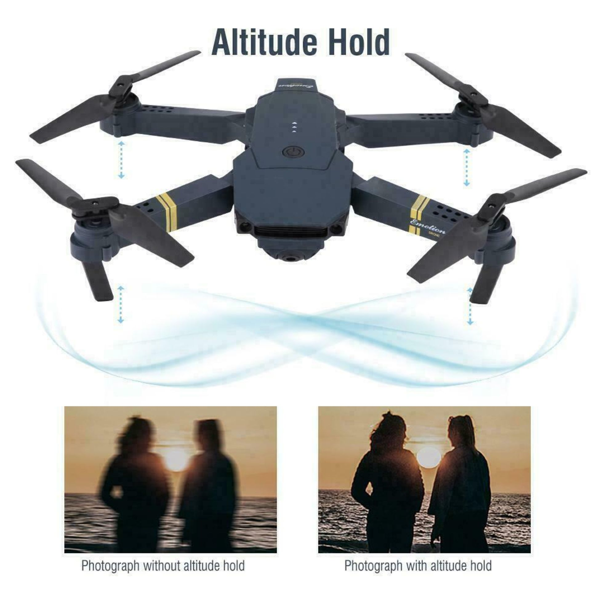 NEW & UNUSED DRONE X PRO WIFI FPV 1080P HD CAMERA FOLDABLE RC QUADCOPTER + BAG *PLUS VAT* - Image 6 of 9