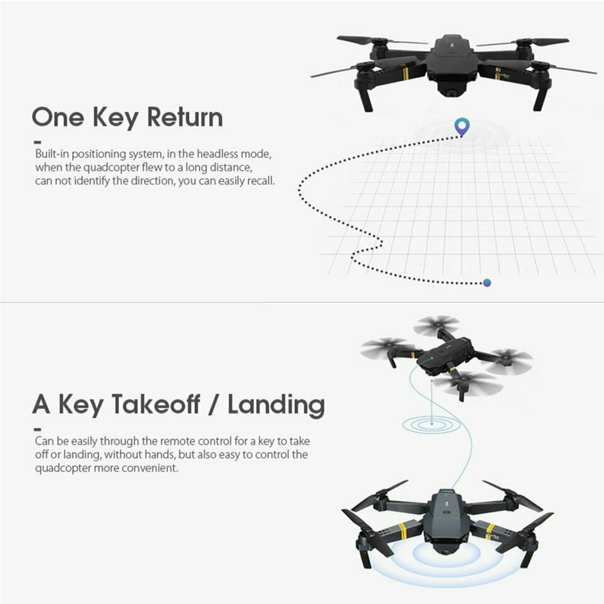 NEW & UNUSED DRONE X PRO WIFI FPV 1080P HD CAMERA FOLDABLE RC QUADCOPTER + BAG *PLUS VAT* - Image 5 of 12