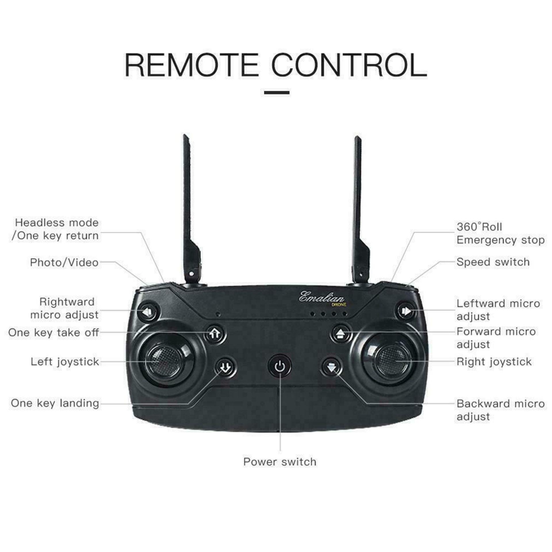 NEW & UNUSED DRONE X PRO WIFI FPV 1080P HD CAMERA FOLDABLE RC QUADCOPTER + BAG *PLUS VAT* - Image 2 of 9
