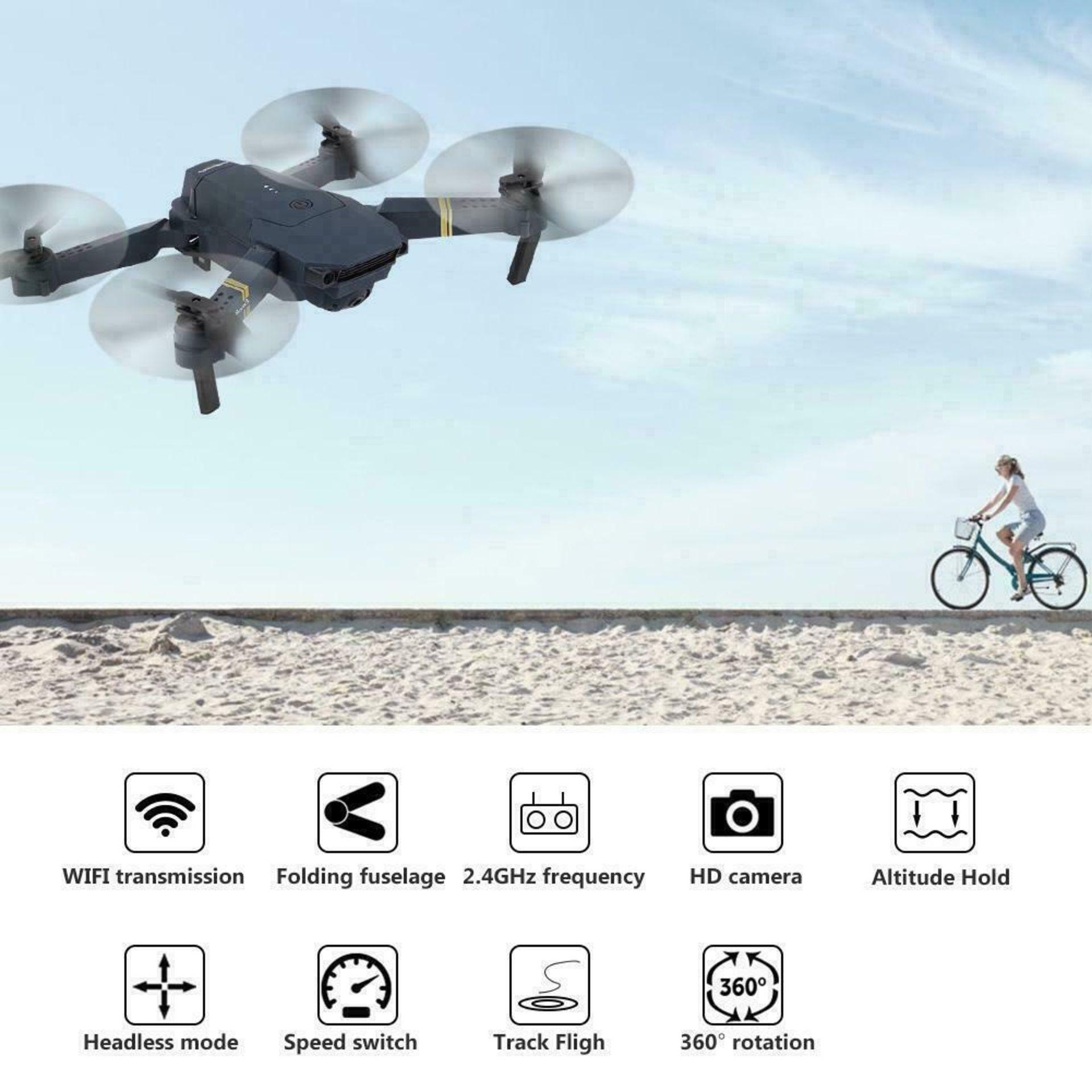 NEW & UNUSED DRONE X PRO WIFI FPV 1080P HD CAMERA FOLDABLE RC QUADCOPTER + BAG *PLUS VAT* - Image 5 of 9