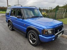 2003/53 REG LAND ROVER DISCOVERY TD5 XS AUTO 2.5 DIESEL BLUE *NO VAT*