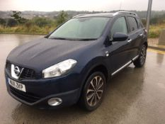 2011/11 REG NISSAN QASHQAI N-TEC 2.0 PETROL BLUE 5 DOOR, SHOWING 2 FORMER KEEPERS *NO VAT*