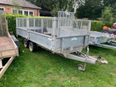 "GRAHAM EDWARDS FB3514 3500KG TWIN AXLE TRAILER, UNLADEN 760 KG, LENGTH 14', WIDTH 6'6"" *PLUS VAT*"