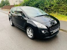 2011/60 REG PEUGEOT 3008 SPORT HDI S-A 1.6 DIESEL 5 DOOR BLACK, SHOWING 2 FORMER KEEPERS *NO VAT*