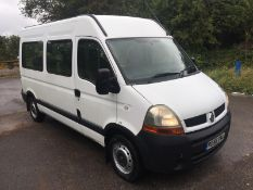 2006/56 REG RENAULT MASTER MM33 DCI 100 MWB MINIBUS 2.5 DIESEL, SHOWING 3 FORMER KEEPERS *NO VAT*