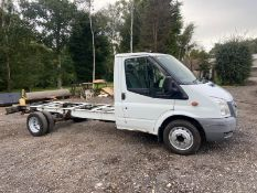 2013/63 REG FORD TRANSIT 125 T350 RWD 2.2 DIESEL CHASSIS WHITE, SHOWING 1 FORMER KEEPER *PLUS VAT*