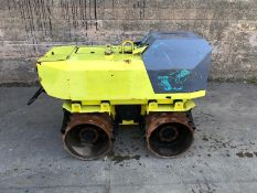 RAMMAX TRENCH ROLLER, MODEL 1585-MI, YEAR 2014, C/W REMOTE CONTROL, ONLY 214 HOURS *PLUS VAT*