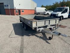 IFOR WILLIAMS LM126 TWIN AXLE TOW-ABLE TRAILER *NO VAT*
