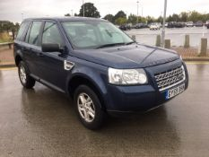 2009/59 REG LAND ROVER FREELANDER S TD4 E 2.2 DIESEL BLUE, SHOWING 2 FORMER KEEPERS *NO VAT*
