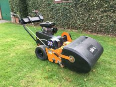 SISIS SELF PROPELLED SCARIFIER COMPLETE WITH GRASS BOX AUTO ROTORAKE *PLUS VAT*