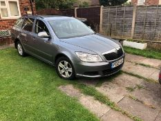 2012/12 REG SKODA OCTAVIA SE TDI CR 1.6 DIESEL GREY ESTATE, SHOWING 2 FORMER KEEPERS *NO VAT*