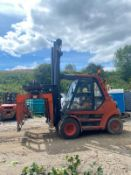 LANSING 7 TON FORKLIFT WITH BRICK GRAB, RUNS, WORKS AND LIFTS *PLUS VAT*