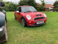 2002/52 REG MINI COOPER S RED 1.6 PETROL 3 DOOR HATCHBACK *NO VAT*