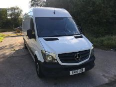 2016/16 REG MERCEDES-BENZ SPRINTER 313 CDI 2.2 DIESEL WHITE PANEL VAN, SHOWING 1 FORMER KEEPER