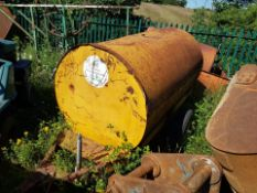 YELLOW SINGLE AXLE TOWABLE FUEL TANK *PLUS VAT*