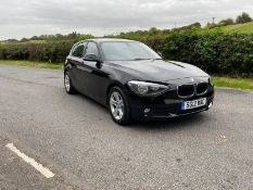 2012/12 REG BMW 116I SE TURBO 1.6 PETROL BLACK 5 DOOR HATCHBACK, SHOWING 3 FORMER KEEPERS *NO VAT*