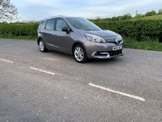 2014/64 REG RENAULT GRAND SCENIC LTD ENERGY DCI 1.5 DIESEL GREY MPV 7 SEAT, SHOWING 1 FORMER KEEPER