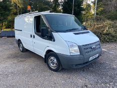 2012/62 REG FORD TRANSIT 100 T300 FWD 2.2 DIESEL WHITE PANEL VAN, SHOWING 0 FORMER KEEPERS *PLUS VAT