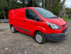 2016/66 REG FORD TRANSIT CUSTOM 270 2.0 DIESEL RED PANEL VAN, SHOWING 0 FORMER KEEPERS *PLUS VAT*