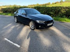 2012/12 REG BMW 318D SPORT 2.0 DIESEL BLACK 4 DOOR SALOON, SHOWING 5 FORMER KEEPERS *NO VAT*