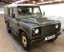 2013/13 REG LAND ROVER DEFENDER 110 TD D/C 2.2 DIESEL LIGHT 4X4 UTILITY, SHOWING 1 FORMER KEEPER