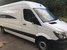 2017/67 REG MERCEDES-BENZ SPRINTER 314 CDI 2.2 DIESEL WHITE PANEL VAN, SHOWING 0 FORMER KEEPERS