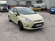 2009/59 REG FORD FIESTA ZETEC 68 TDCI 1.4 DIESEL 5 DOOR HATCHBACK, SHOWING 4 FORMER KEEPERS *NO VAT*