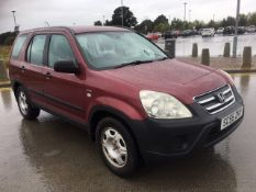 2006/55 REG HONDA CR-V VTEC SE 2.0 PETROL RED, SHOWING 2 FORMER KEEPERS *NO VAT*