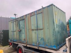 20 X 8 INSULATED STEEL OFFICE UNIT *NO VAT*