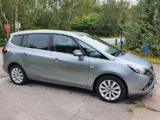 2013/63 REG VAUXHALL ZAFIRA TOURER SE CDTI 2.0 DIESEL SILVER MPV 7 SEATS, SHOWING 4 FORMER KEEPERS