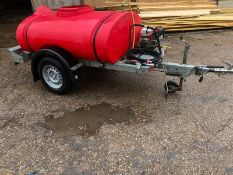 HONDA POWERED PRESSURE WASHER WITH QUICK RELEASE LANCE C/W SINGLE AXLE TOWABLE TRAILER *NO VAT*