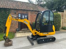 JCB MINI EXCAVATOR 8018 CTS, ONLY 236 HOURS FROM NEW, FULL CAB, 1 OWNER GENUINE *PLUS VAT*